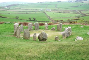 The Dromberg Stone Circle is a typical neolithic megalithic sites of Western Europe, situated in County Cork, Ireland.