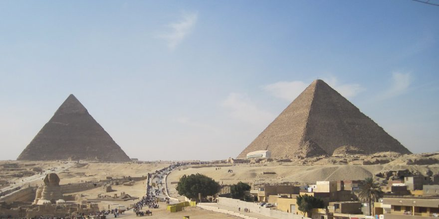 Giza great pyramids egypt