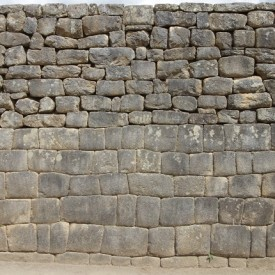 Inca repairs of damaged walls show a stark inability to replicate what is supposedly their own earlier stone-work... (Image credit: 14 textures.com).