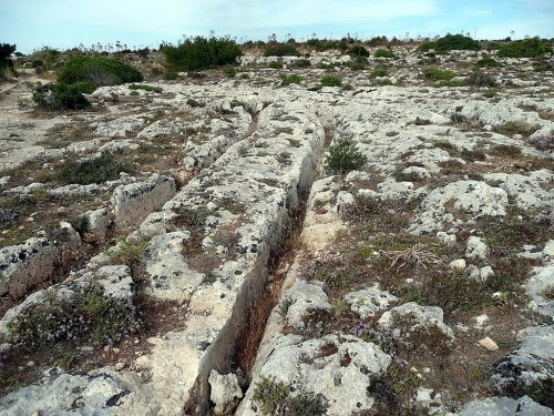 Stone tracks found on Malta (Image credit: Prokop Vantuch).