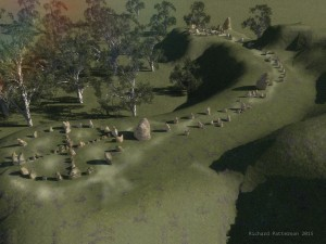 Digital recreation of the Mullumbimby stone circles (Image credit: Richard Andrew Patterson).