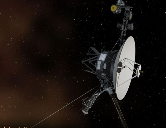 Image of Voyager in deep space.