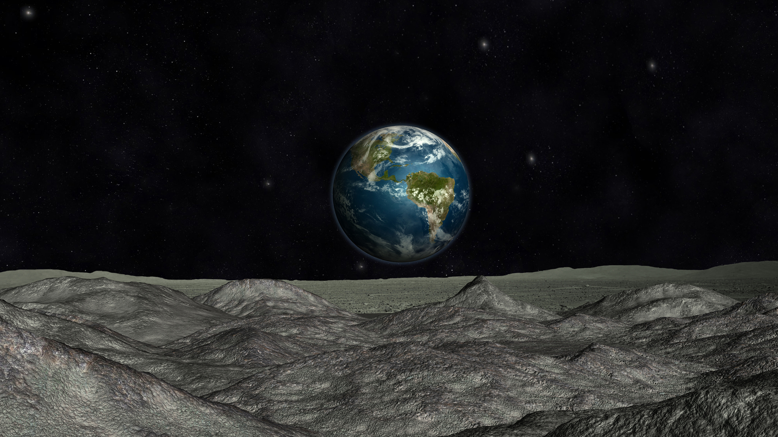 View from a comet approaching Earth.