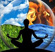 Holding the 4 elements in balance