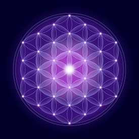 Flower of Life with, a spiritual symbol and Sacred Geometry since ancient times.