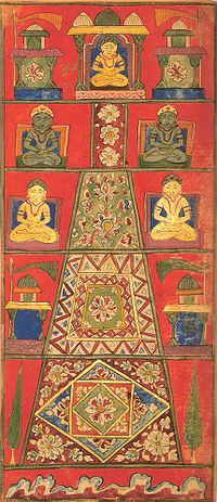 Mount Meru in Buddhist art (Image credit: Wikipedia).