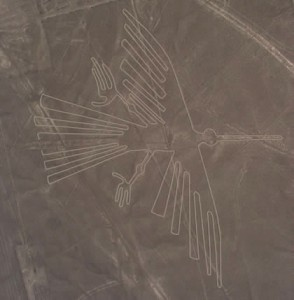 Representation of a condor amongst Nazca lines in Peru (Image credit: perutoptours.com).