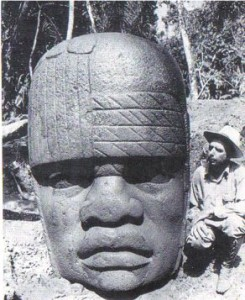 Olmec head carving, Mexico (Image credit: www.ancient-wisdom.com).