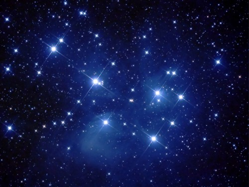 The Pleaides brightest stars.
