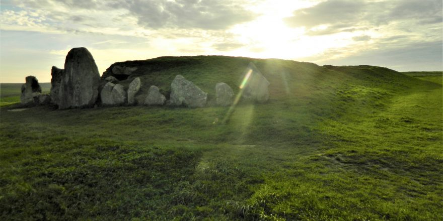 west kennet long barrow wiltshire sunset